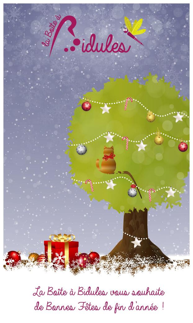 Carte de voeux la boite à bidules : Bonnes fêtes
