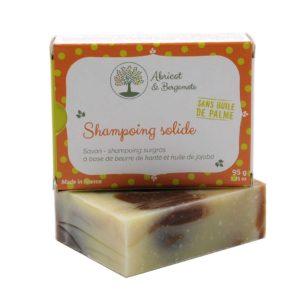 Création d'un packaging pour un shampoing solide bio : Abricot et Bergamote