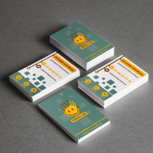 Création d'un logo et d'une carte de visite pour une entreprise d'informatique