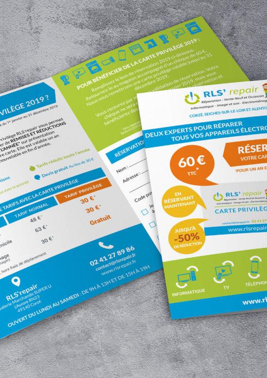 Création d'outils de communication en Maine-et-Loire : dépliant