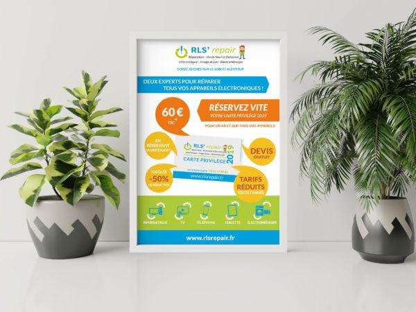 Création d'affiches pour une entreprise de réparation