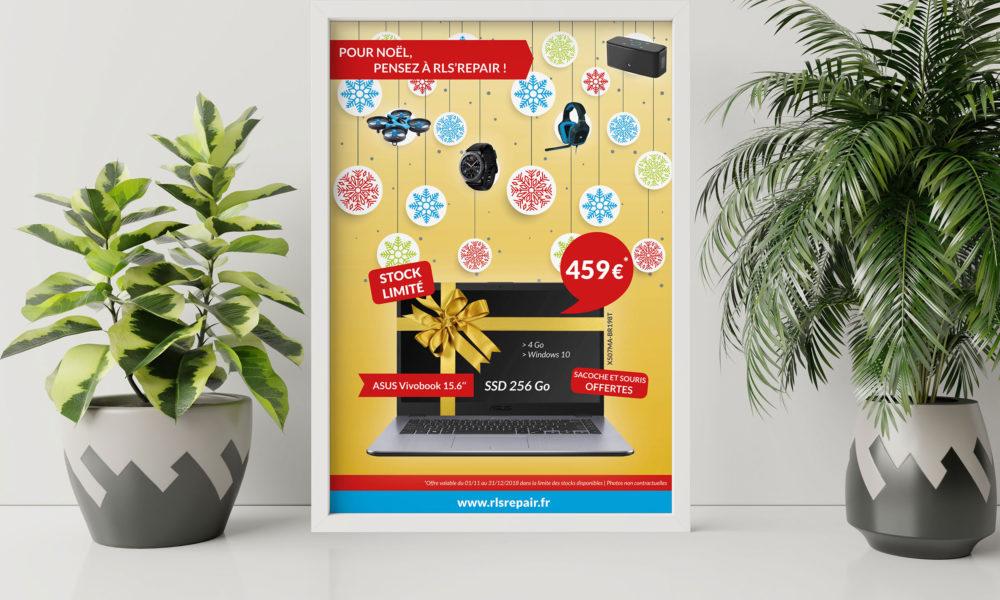 Création d'une affiche pour une offre de Noël