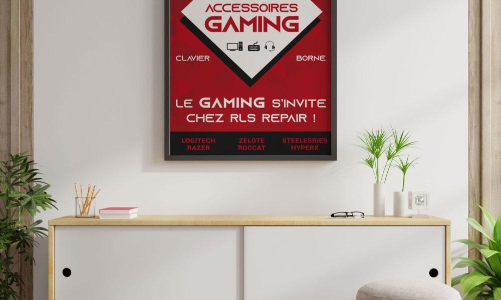 Création d'une affiche pour un espace gaming