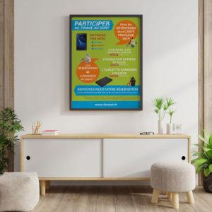 Création d'une affiche pour un tirage au sort