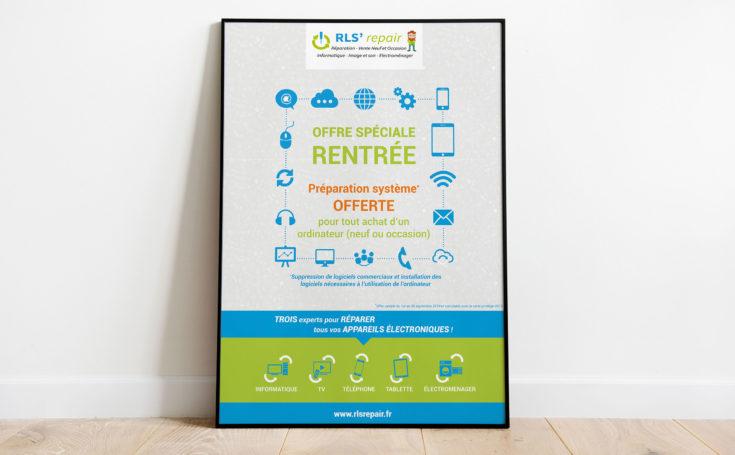 Création d'une affiche pour une offre de rentrée