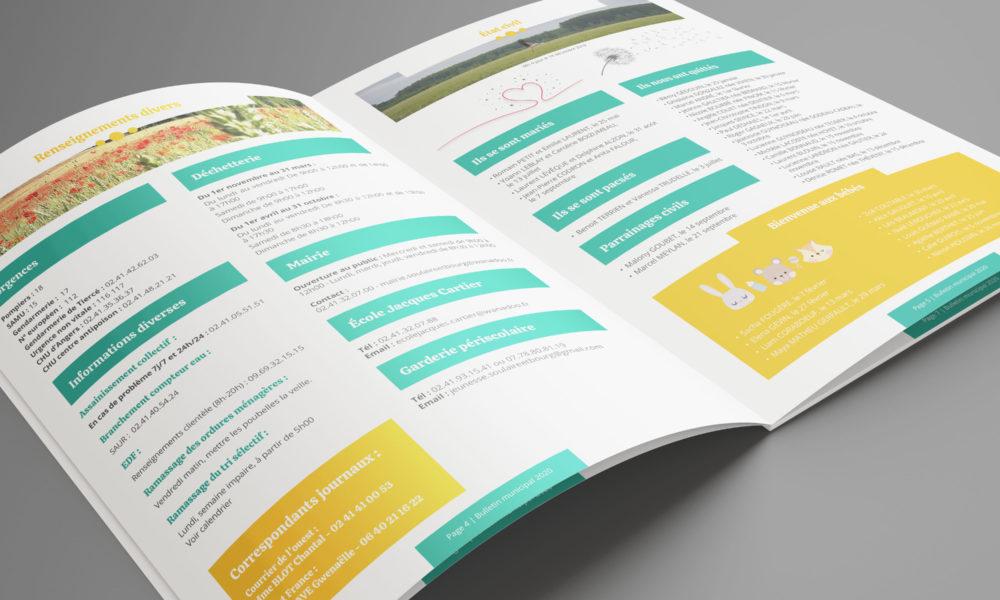 Création d'un bulletin municipal 2020 : double page intérieure