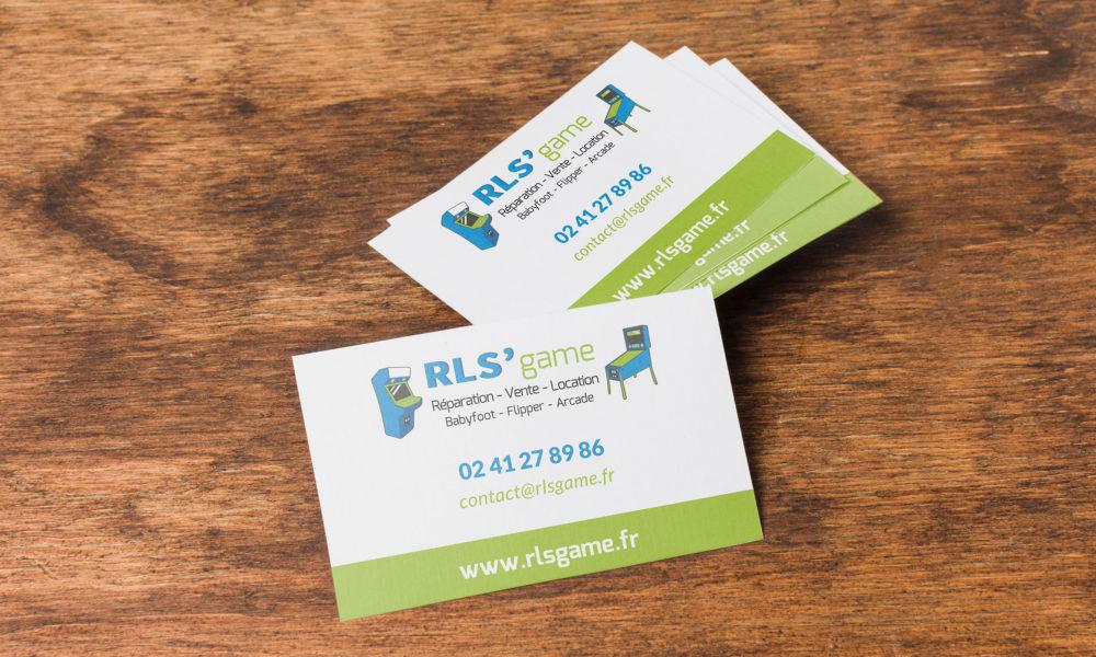 Conception d'une carte de visite pour RLS'game