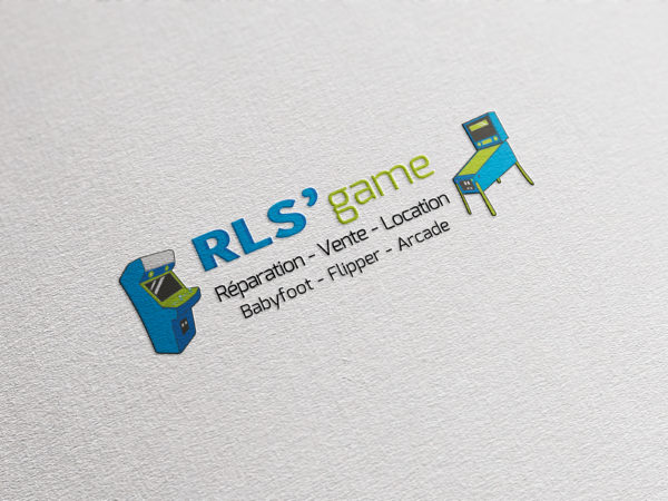 Conception d'un logo et d'une carte de visite pour RLS'game