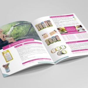 Création d'un catalogue produits 2019-2020 : intérieur produit hygiène