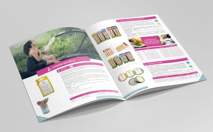 Création d'un catalogue produit 2019-2020 : intérieur produit hygiènne