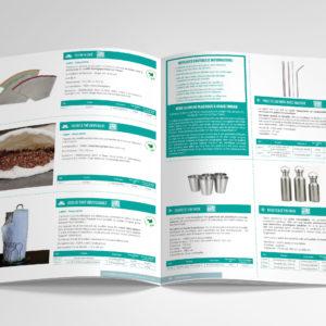 Création d'un catalogue produits 2019-2020 : intérieur produits zéro déchet