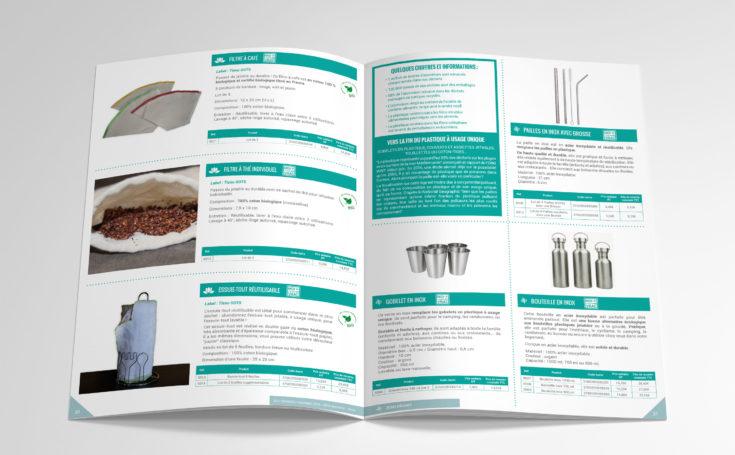 Création d'un catalogue produit 2019-2020 : intérieur produits zéro déchet