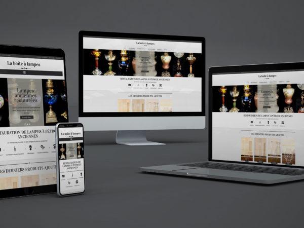 Création d'une boutique en ligne pour des lampes à pétrole