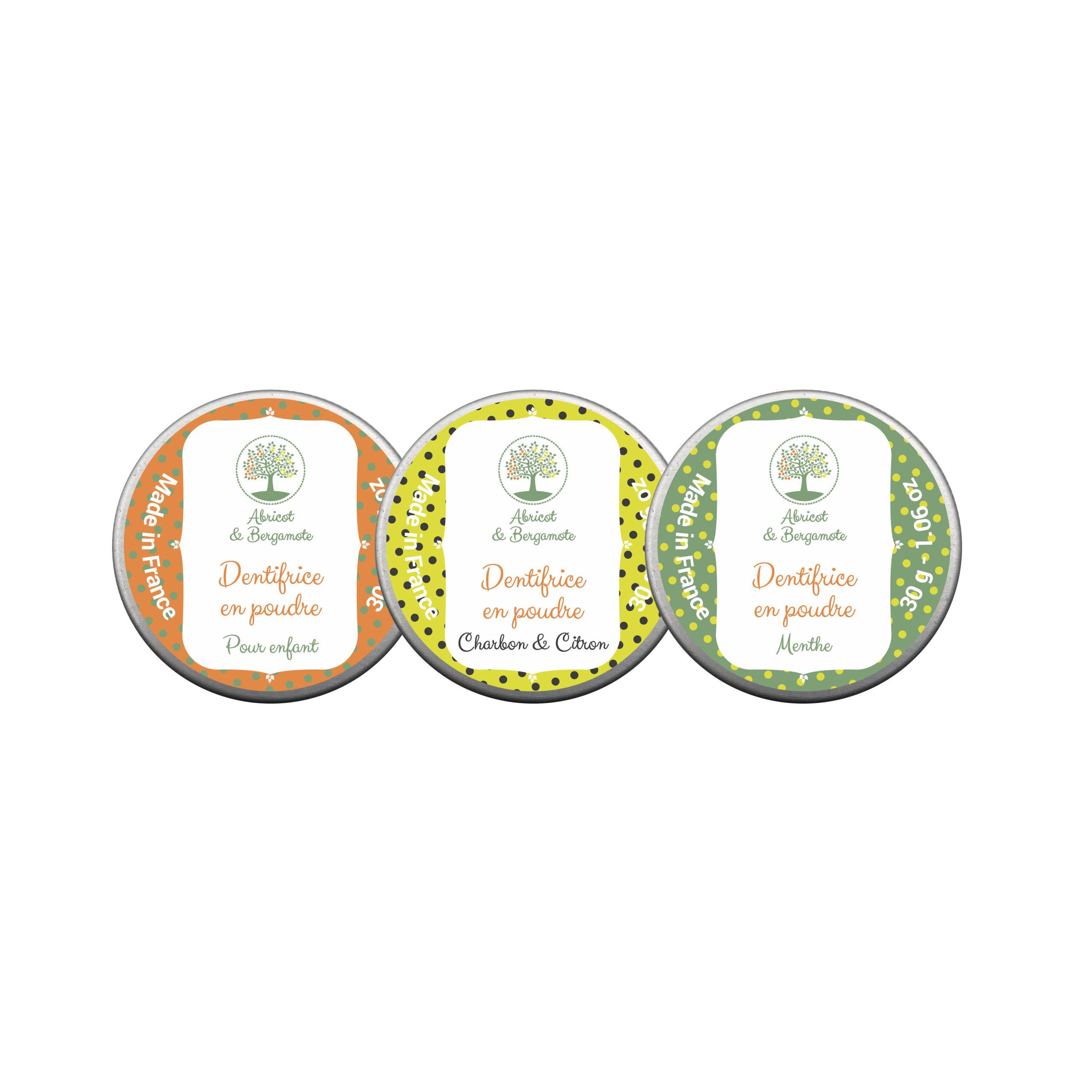 Création étiquette produit : dentifrice en poudre