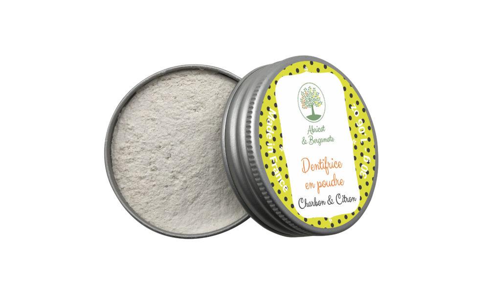 Création étiquettes produits : un dentifrice en poudre