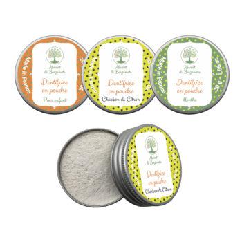Création d'étiquettes pour des dentifrices en poudre
