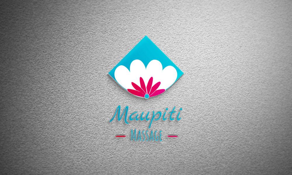 Conception d'une identité visuelle : le logo de Maupiti Massage