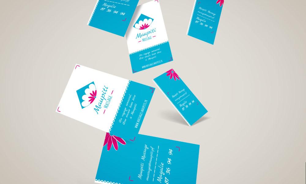Création de carte de visite pour Maupiti Massage