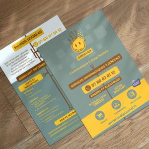 création graphique ou conception graphique à Angers : flyer
