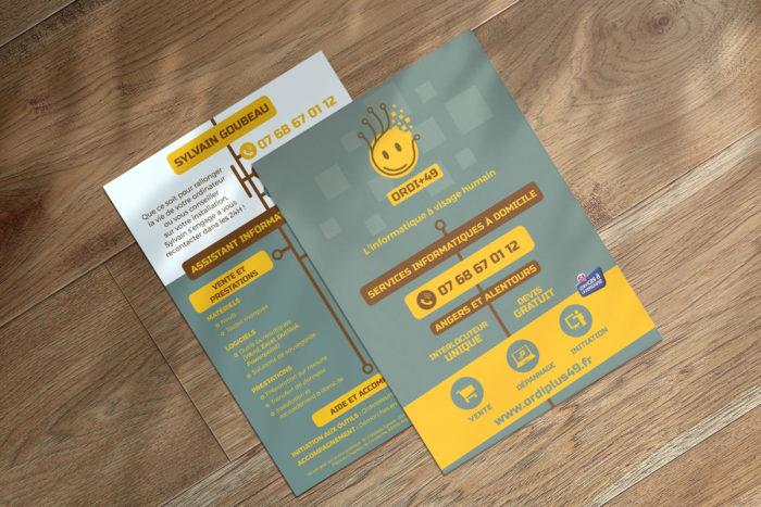 Communication visuelle et création graphique destinée à l'impression : des flyers A6