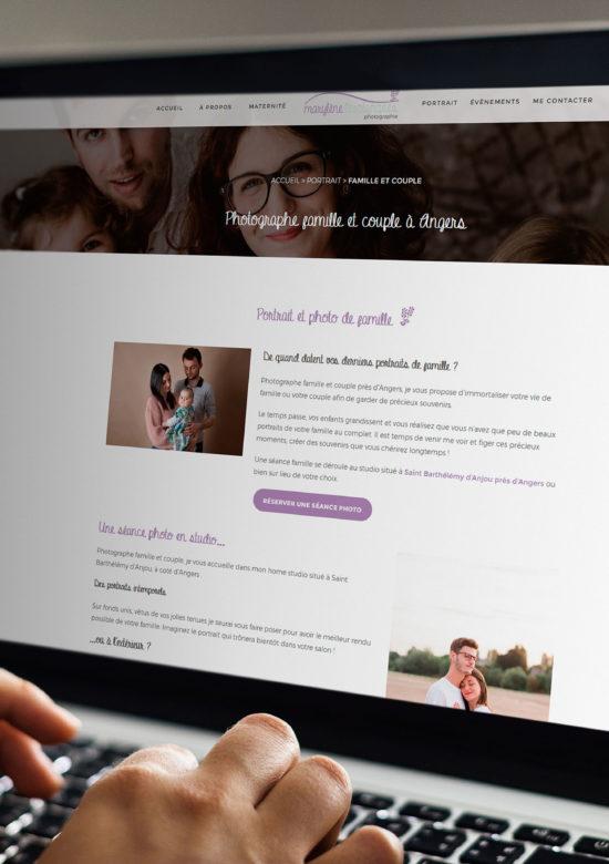Création de site internet à Angers pour une photographe