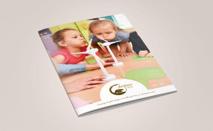 création d'un catalogue A4 de 12 pages : couverture