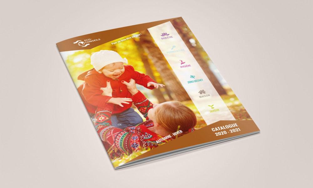 Création d'un catalogue 48 pages pour des produits naturels : la couverture