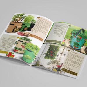 Création d'un catalogue A4 de 12 pages : les produits