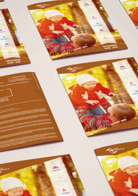Création d'un catalogue 48 pages pour des produits naturels