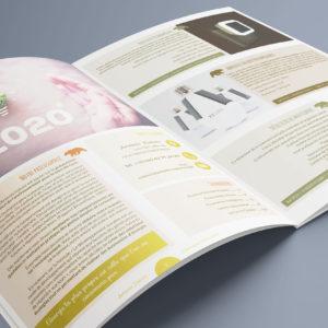 Création d'un catalogue A4 de 12 pages : intérieur