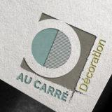 Conception d'un logo pour une décoratrice d'intérieur