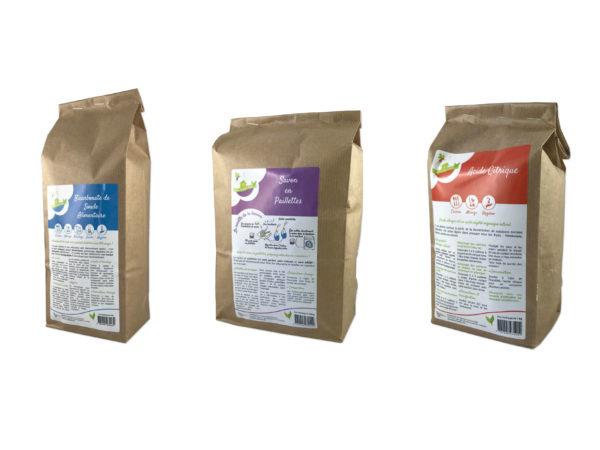 Création d'étiquette produit pour des produits naturels pour la maison