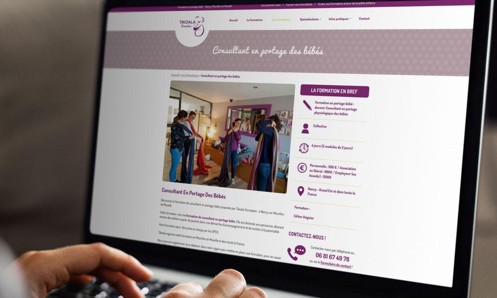 Conception d'un site internet pour un organisme de formations