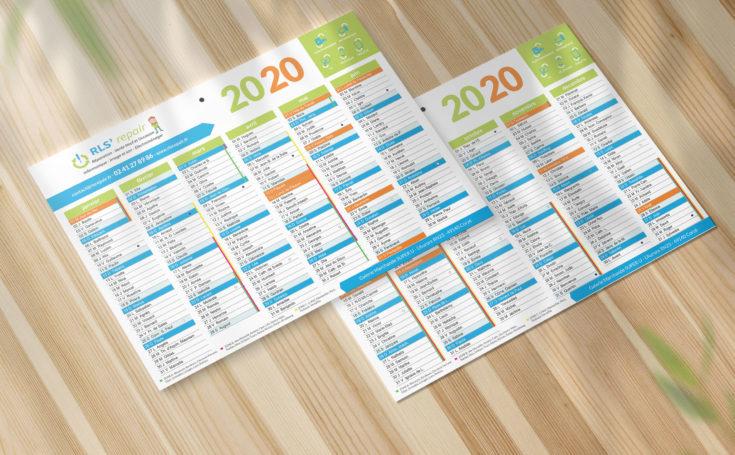 Création d'un calendrier A4 pour une entreprise de réparation