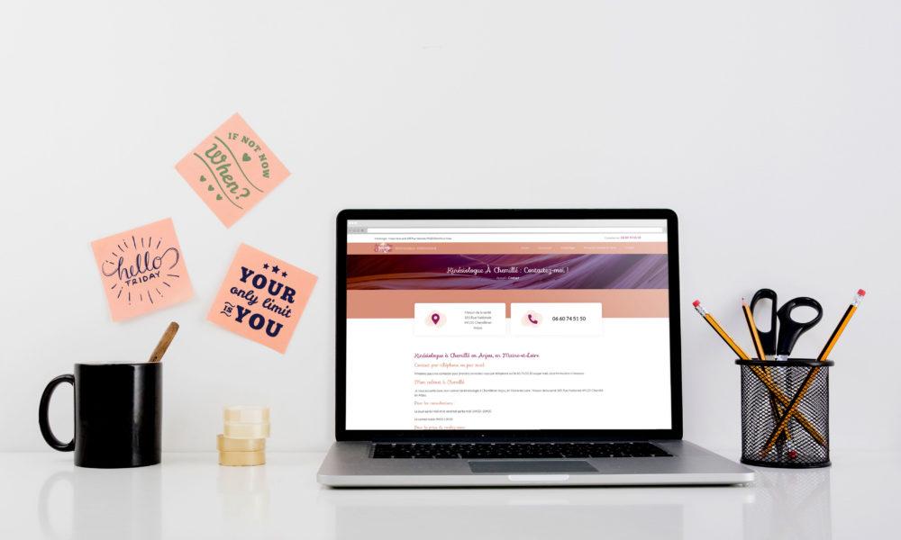 Conception d'un site internet pour une kinésiologue en Maine-et-Loire