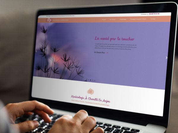 Réalisation d'un site internet pour une kinésiologue en Maine-et-Loire