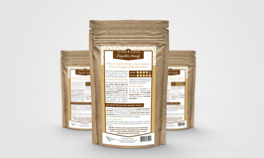 Réalisation d'une étiquette produit pour un répulsif à limaces : étiquette verso