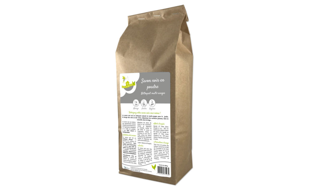 Création d'une étiquette pour un savon noir en poudre