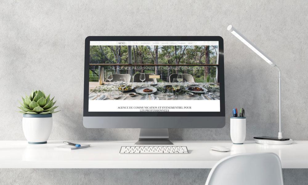 Réalisation d'un site vitrine pour une agence de communication, graphiste Angers
