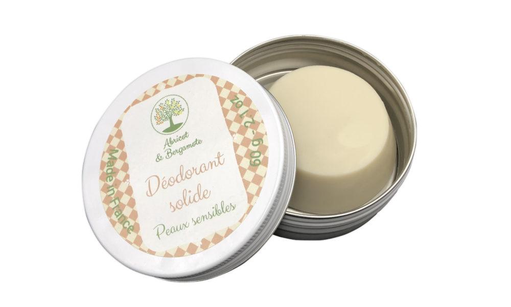 Création d'étiquette pour un déodorant solide