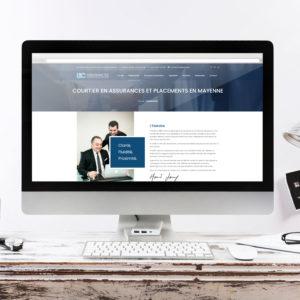 Réalisation d'un site web pour des courtiers en assurances - Graphiste Angers