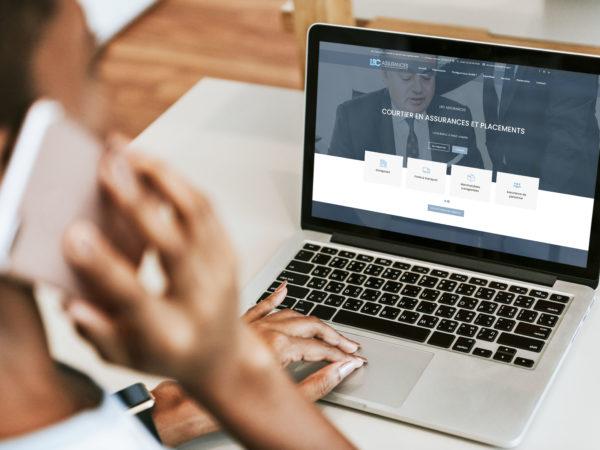 Création d'un site web pour des courtiers en assurances - Graphiste Angers